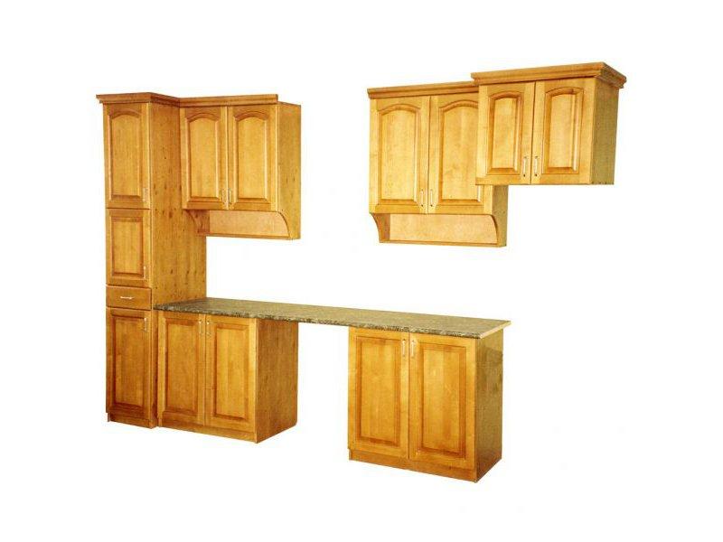 Прямой деревянный кухонный гарнитур