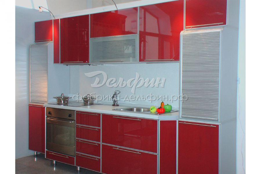 Серо-красная кухня
