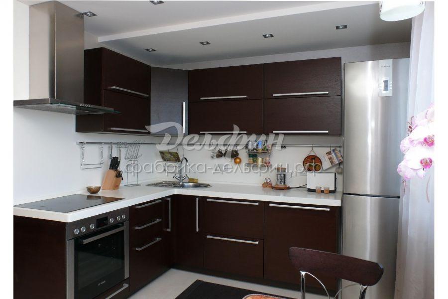 Стильная кухня цвет венге