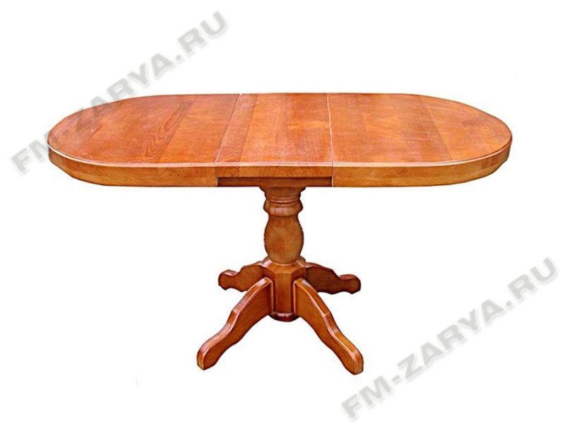 Стол на 1-ой балясине, раздвижной, из массива дерева