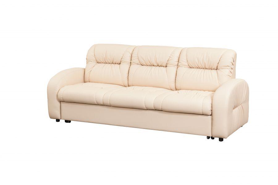 Светлый прямой диван