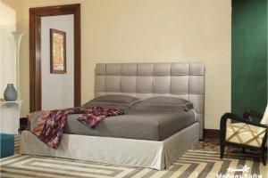 кровать Эстель с изголовьем в технике «каретная стяжка» - Мебельная фабрика «МебельЛайн»