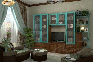 Стенка в гостиную Тироли  - Мебельная фабрика «Ладос-мебель»