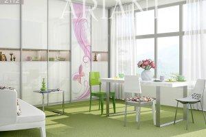 Шкаф-купе Ди Сопра со стеклом и фотопечатью - Мебельная фабрика «Ариани»