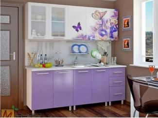 Прямая кухня Бабочки-2 с фотопечатью - Мебельная фабрика «Манго»