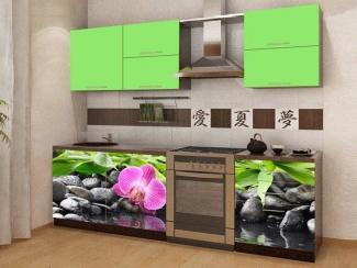 Кухня прямая Смак 21 с фотопечатью - Мебельная фабрика «Лига Плюс»
