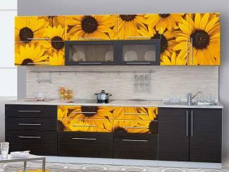 Кухонный гарнитур прямой 12 фотопечать