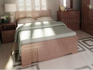 Небольшая двухспальная кровать Афродита - Мебельная фабрика «Армос», г. Иваново