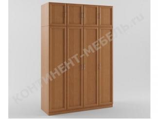 Шкаф распашной 4-х дверный с антресолью - Мебельная фабрика «Континент-мебель»