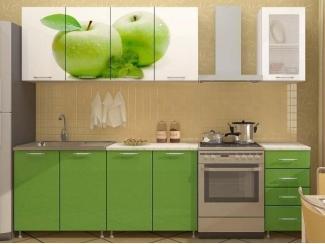 Кухня прямая с фотопечатью Смак 28 - Мебельная фабрика «Лига Плюс»