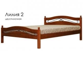 Кровать Лилия 2 - Мебельная фабрика «Массив»