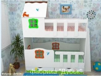 Кровать двухъярусная детская  Сказочный домик  - Мебельная фабрика «Дубок»