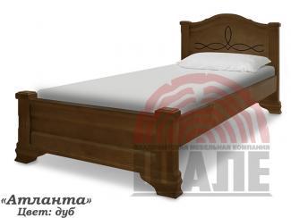 Кровать Атланта из массива - Мебельная фабрика «ВМК-Шале»
