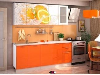 Оранжевая кухня Апельсин  - Мебельная фабрика «Стендмебель»