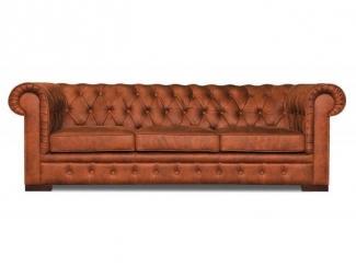 Классический коричневый диван Беркли