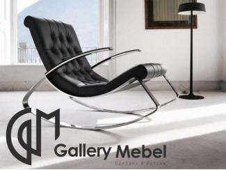 Черное кресло-качалка - Мебельная фабрика «Галерея Мебели GM»