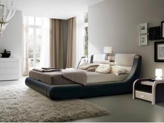 Кровать Симпатика двуспальная экокожа - Мебельная фабрика «МВК»