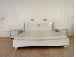 Белая большая кровать - Мебельная фабрика «МебельЛайн»