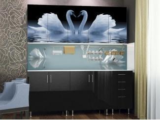 Кухня в черном цвете Живая природа  - Мебельная фабрика «Северин»
