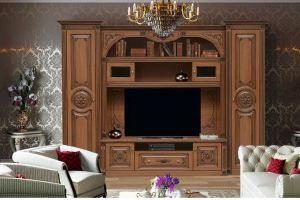 Стенка Джулия 2 с резными декорами - Мебельная фабрика «Аристократ»