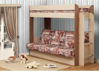 Двухъярусная кровать с диваном  - Мебельная фабрика «Олмеко»