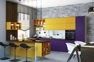 Яркая кухня Интегра - Мебельная фабрика «Гармония мебель», г. Великие Луки