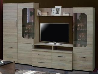 Светлая гостиная стенка Каприз  - Мебельная фабрика «Мебельный комфорт»