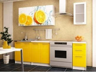 Прямая кухня с фотопечатью Апельсин - Мебельная фабрика «Меон»