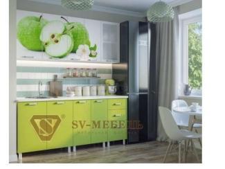Небольшая кухня с фотопечатью Фрукты  - Мебельная фабрика «Северная Двина»