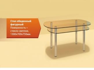 Стол обеденный Фигурный стекло