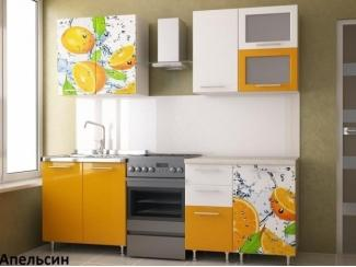 Оранжевая кухня Апельсин - Мебельная фабрика «Меон»
