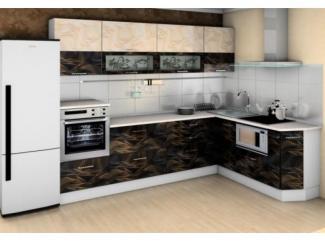 Кухня Санрайс 1,4 черная бежевая иллюзия - Импортёр мебели «Мебель Глобал (Малайзия, Китай, Тайвань)»