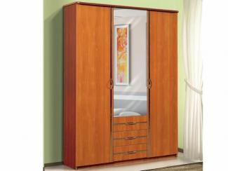 Шкаф для платья и белья 3-х створчатый с 3-мя ящиками и зеркалом - Мебельная фабрика «Актив М»