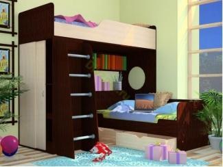 Кровать-чердак с нижней кроватью Орбита 9 - Мебельная фабрика «Фиеста-мебель»