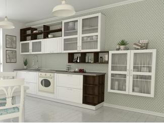 Светлая кухня с навесными шкафами Провенсия small - Мебельная фабрика «Cucina»