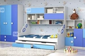 Кровать чердак Pinny Blue - Мебельная фабрика «ТомиНики»