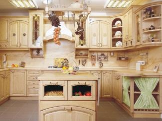 Кухонный гарнитур Ясень цвет ваниль-патина желтая - Мебельная фабрика «ARVA»