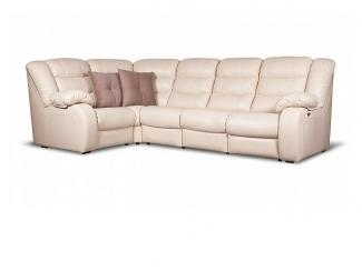 Кожаный диван - реклайнер LEO