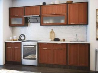 Кухонный гарнитур в коричневом цвете