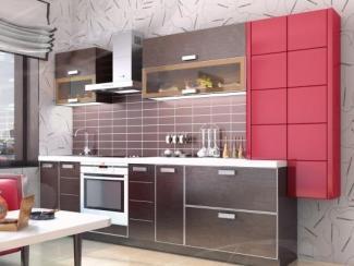 Кухня прямая «Техно Венге» - Мебельная фабрика «Ладос-мебель»