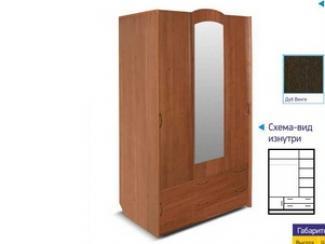 Шкаф 1314 - Мебельная фабрика «Премьер мебель»