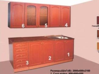 Кухня прямая модульная Стандарт - Мебельная фабрика «Мебельная Сказка»