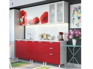 Кухонный гарнитур с фотопечатью Маки - Мебельная фабрика «Северная Двина»