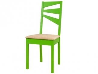 Зеленый стул из массива  - Мебельная фабрика «12 стульев»