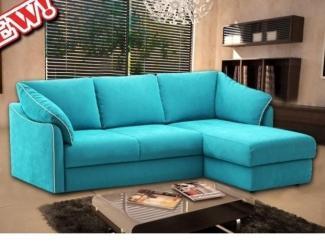 Голубой диван Евроугол 5  - Мебельная фабрика «Мебель на Черниговской»