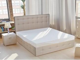Светлая кровать Кристалл 7 - Мебельная фабрика «ВичугаМебель», г. Вичуга