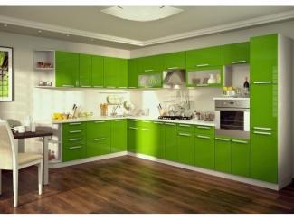 Зеленая кухня Пелагея  - Мебельная фабрика «Гермес»