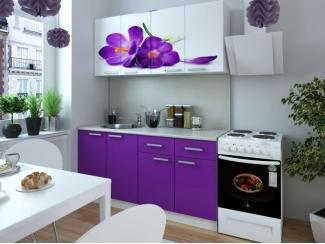 Кухня с фотопечатью Фиалка