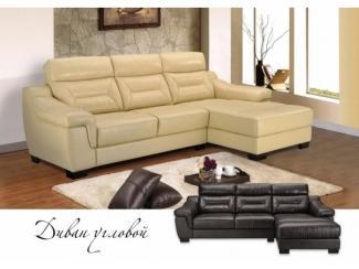 Кожаный диван угловой - Мебельная фабрика «Бригантина»