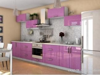 Современная глянцевая кухня Сирень 3.0 - Мебельная фабрика «А-Ника», г. Ульяновск